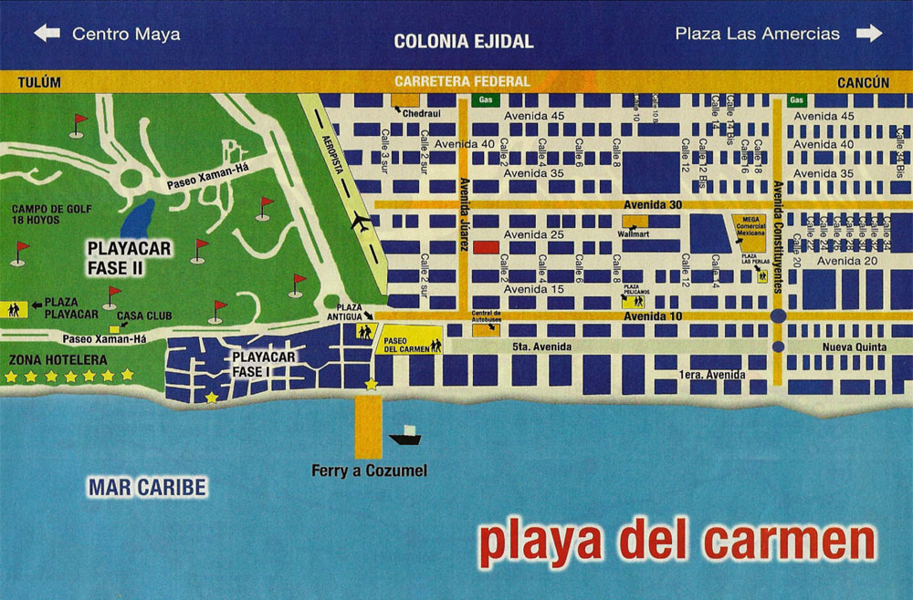 Playa Del Carmen Hotels On The Beach Map Best Beaches In World