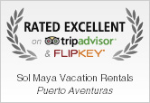 Sol Maya Vacation Rentals Rated Excellent on TripAdvisor and FlipKey
